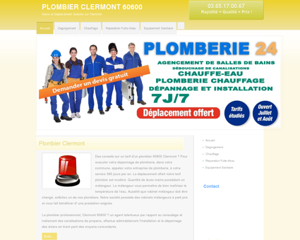 Plombier Clermont, 60 | Maxence tarif...
