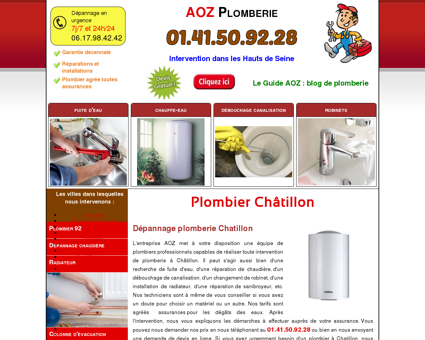 Plombier Chatillon 92320 - 01.41.50.92.28