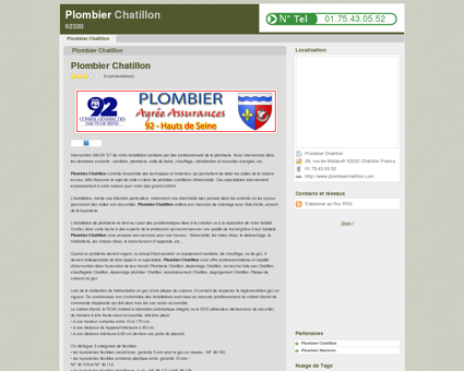 Plombier Chatillon - 01.75.43.05.52 | Plombier...