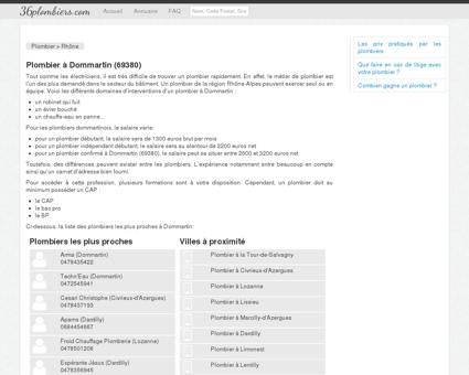 Plombier à Dommartin (69380)