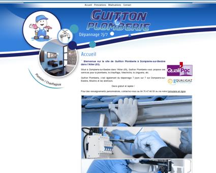 Bienvenue sur le site de Guitton Plomberie à...