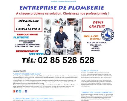 Plombier Caudebec-les-elbeuf TEL:02 85 526 528