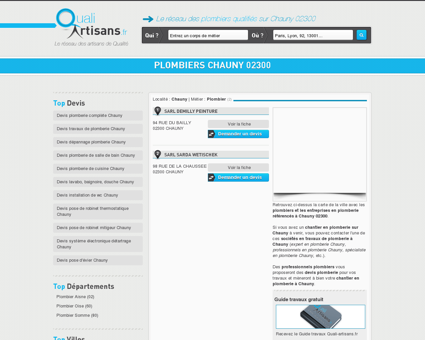 Plombier Chauny 02300