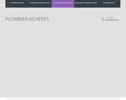 Plombier Acheres