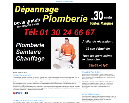 Plomberie Acheres TEL:01 30 24 66 67