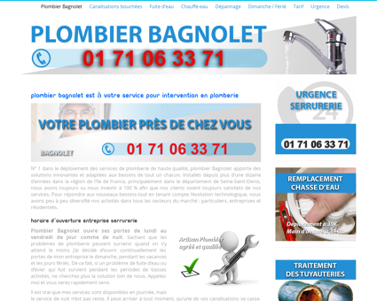 Plombier Bagnolet - Intervention 24h/24 dès...
