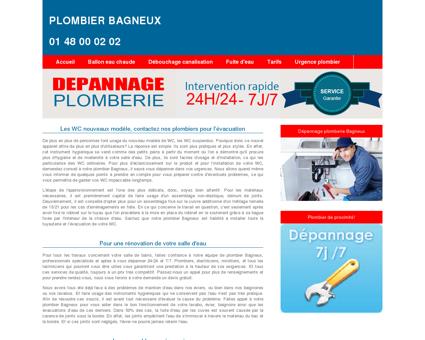 Plombier Bagneux : 01 48 00 02 02 entreprise