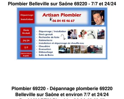 Apams Plomberie dépannage Belleville sur...