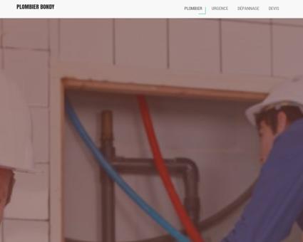 Plombier Bondy - Dépannage plomberie...
