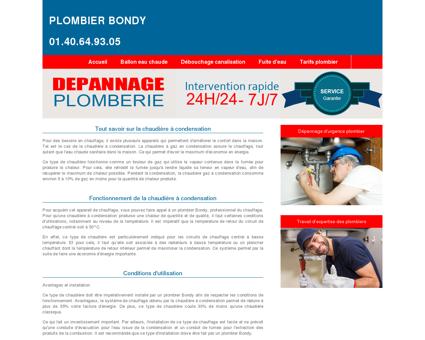 Plombier Bondy Tel: 01.40.64.93.05