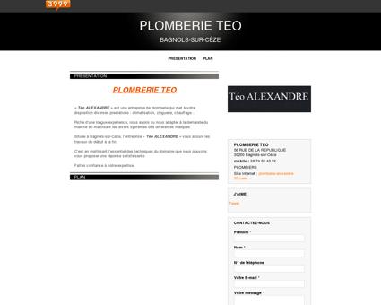 Plombiers - Bagnols-sur-Cèze - PLOMBERIE TEO