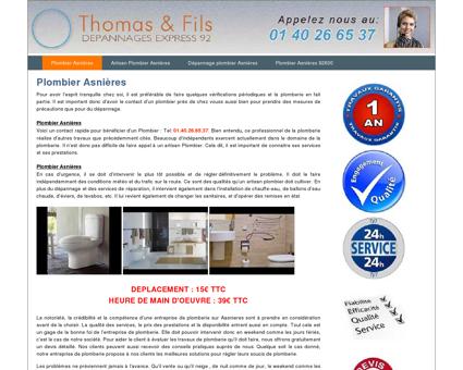 Plombier Asnières