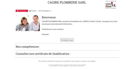 CAGIRE PLOMBERIE SARL - Qualit'EnR -...