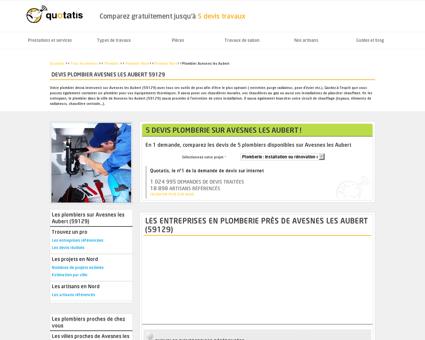 Travaux de plomberie Avesnes les Aubert, 5...