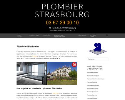 Plombier Bischheim : 03 67 29 00 10
