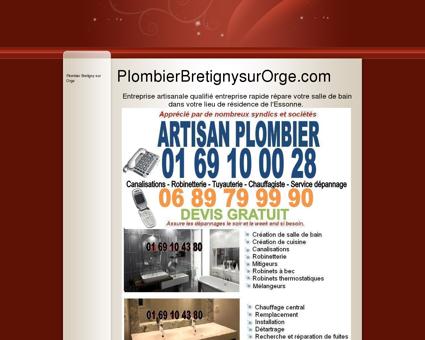 Plombier Bretigny sur Orge - Dépannage...