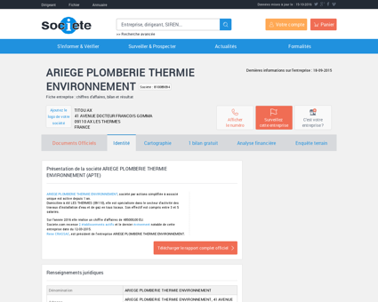 ARIEGE PLOMBERIE THERMIE...
