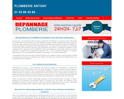 Plomberie Antony :01 43 66 43 66 dépannage