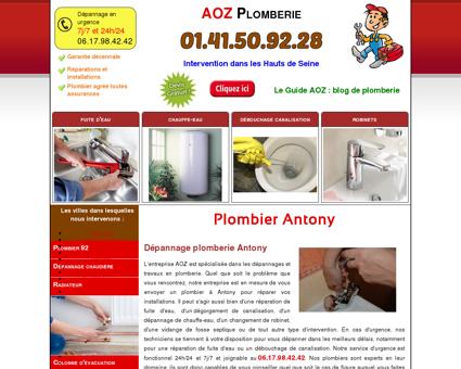 Plombier Antony 92160 - 01.41.50.92.28
