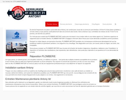 Plombier Antony   01 43 28 01 31