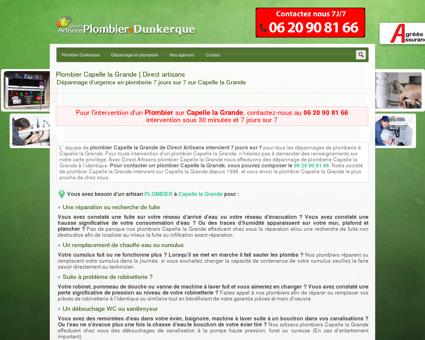 Plombier Capelle la Grande | Dépannage au 06...