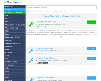 Plombier Beauvoir sur Mer : Avis, Devis pas...