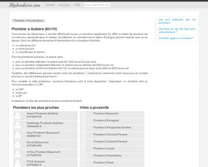 Plombier à Aubière (63170)