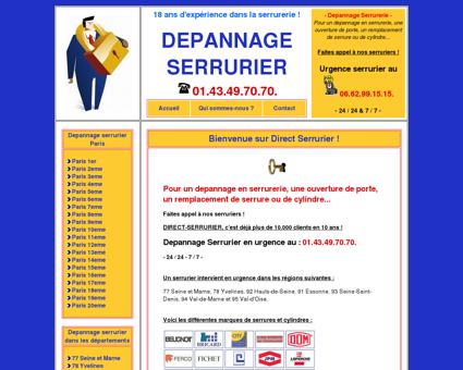 Depannage Serrurier Paris : Serrurerie au...