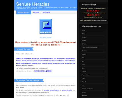 serrure heracles, cylindre heracles, serrurier...