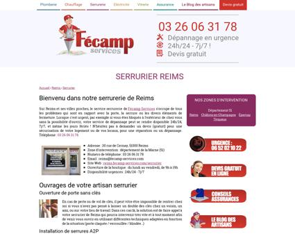 Artisan Serrurier Reims - Fécamp Services : 03...