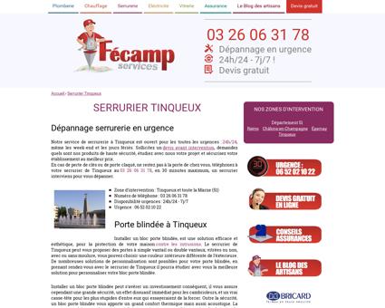Serrurier Tinqueux - Fécamp Services : 03 26...