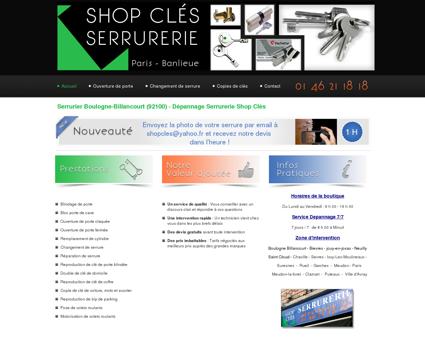 Serrurier Boulogne-Billancourt : Shop Clés -...