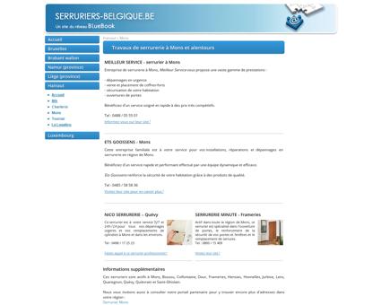 Serruriers à Mons : installations et dépannages...