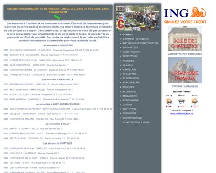Serrurier à Charleroi - Le secteur de la...
