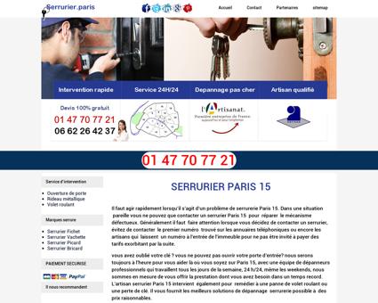 Serrurier Paris 15 -serrurier fichet paris 15