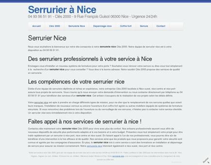 Serrurier Nice Clés 2000 - 04 93 56 51 91 -...
