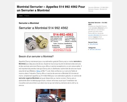 Montréal Serrurier  Appellez 514 992 4562...