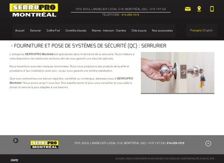 Serrurier, Intercom Mont-Royal | SERRUPRO...