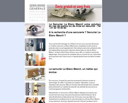 Serrurier Le Blanc Mesnil, TEL. 01 42 18 30 93