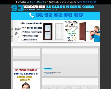 Serrurier Le Blanc Mesnil : 01 42 02 08 00...