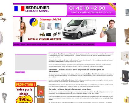 Serrurier Le Blanc Mesnil : 01 42 18 42 98 -...