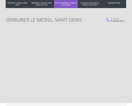 Serrurier Le Mesnil-Saint-Denis