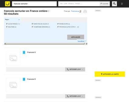 Francois serrurier - Adresse et téléphone sur ...