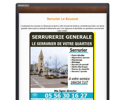 Serrurier Le Bouscat PAS CHER: 05 56 30 16...