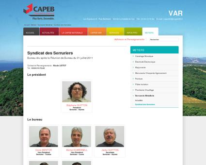 CAPEB : Syndicat des Serruriers