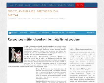Ressources pour chaudronnier et métallier -...