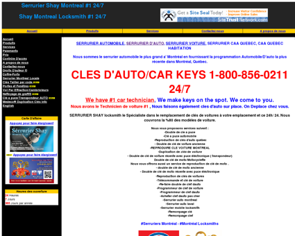 SERRURIER AUTO MONTREAL Duplication de...