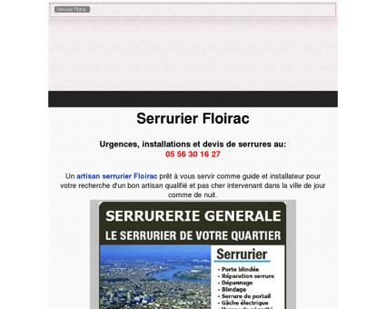 Serrurier Floirac PAS CHER - 05 56 30 16 27 -...