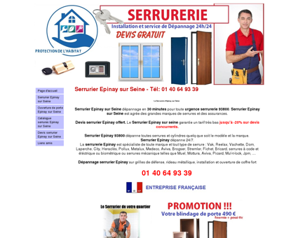Serrurier Epinay sur Seine : 01 40 64 93 39