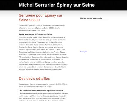 Serrurier à Épinay-sur-Seine - Seine-Saint...